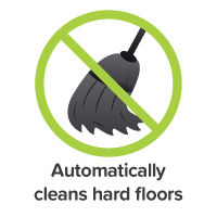 Automatically cleans hard floors